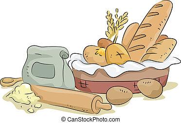 bread, חומרים, לאפות מרכיבים