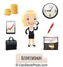 businesswomans, קבע, איקונים