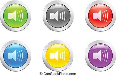 button., [vector], השמע