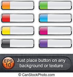 buttons., מבריק, מלבני