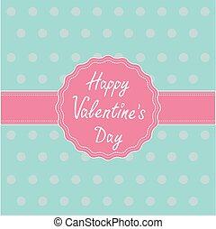 card., שמח, ribbon., כנה, יום של ולנטיינים, ורוד