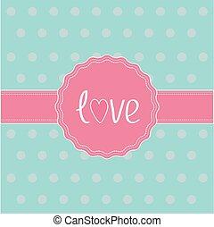 card., ribbon., כנה, ורוד, אהוב
