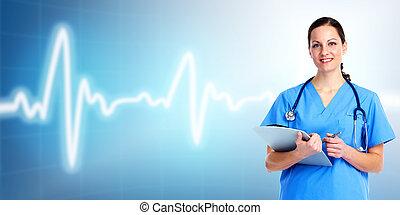 care., רופא, בריאות, רפואי, woman.