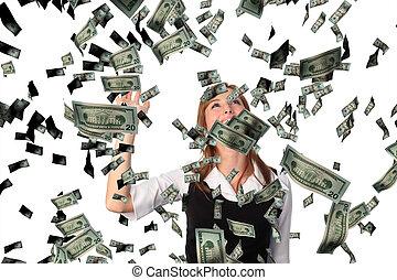 cathing, עסק, דולרים, לפול, אישה