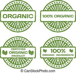 certified., גראנג, ביל, set., מוצר, דוגמה, גומי, וקטור, אורגני