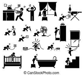 children., בית, בטיחות, ההן