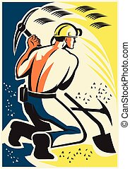 coal-miner-digging-pickax