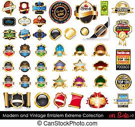 collection., סמלים, קיצוני, מודרני, בציר