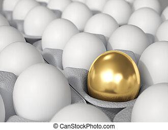 concept., -, ביצה, הבדל, זהוב