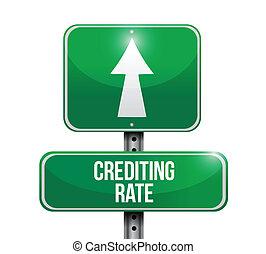 crediting, הערך, דרך, דוגמה, חתום