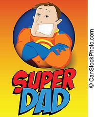 dad., גיבור, אבות, נפלא, יום, שמח