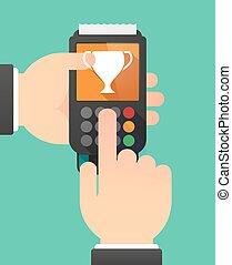 dataphone, בן אדם, חפון, הענק, ידיים, להשתמש