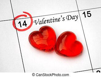 day., עמוד, לוח שנה, לבבות, 14, צדיק, אדום, ולנטיינים, פברואר