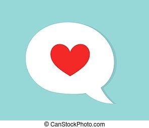 design., בעבע, דירה, נאום, אדום, אהוב לב, concept.