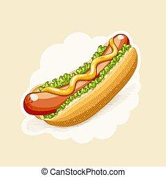 dog., חקיקה, אוכל, מהיר, חם, style.