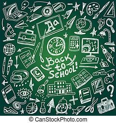 doodles, בית ספר, חינוך, -, קבע