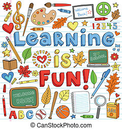 doodles, בית ספר, קבע, השקע, ללמוד