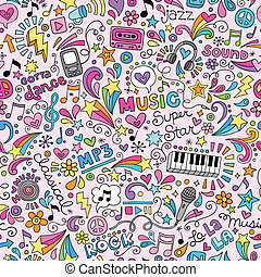 doodles, מחברת, מוסיקה, תבנית
