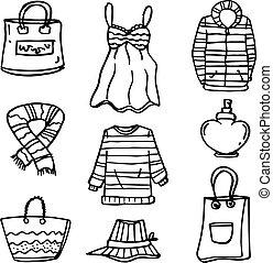doodles, נשים, קבע, בגדים