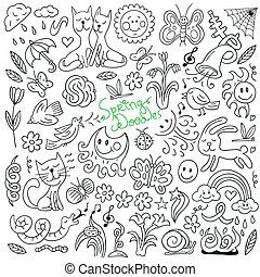 doodles, קפוץ, -