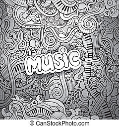 doodles, sketchy, מחברת, מוסיקה