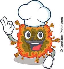 duvinacovirus, ציור היתולי, ללבוש, חמוד, לבן, אופי, כובע, טבח