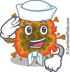 duvinacovirus, ציור היתולי, ללבוש, חמוד, לבן, אופי, כובע, ימאי
