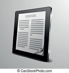 ebook, עמוד, קדור, תלתל