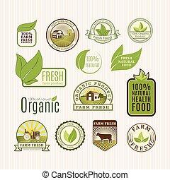 eco, אוכל, תג, אורגני
