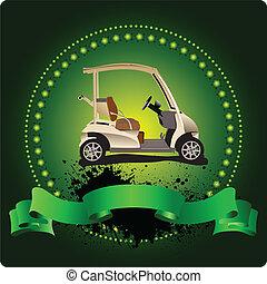emblem., שחקן גולף, מועדון, ילאסטרה, וקטור