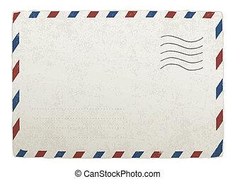 envelope., 10., בציר, מעצב, הכנסה לכל מניה, וקטור, דפוסית, לשלוח, שלך