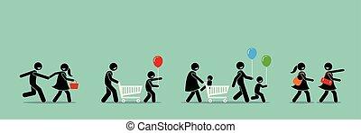 event., קניות, קרנבל, מכירות, קונים, לך, שמח