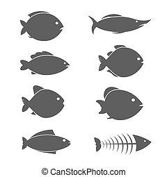 fish, וקטור, קבע, איקונים