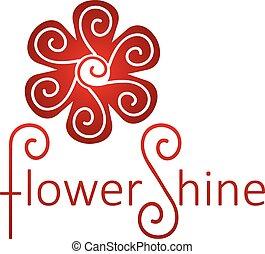 flower., תקציר, וקטור, אין סופי, לוגו, template., ענוב