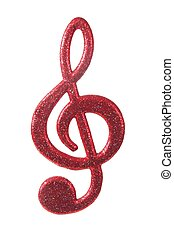 g-clef, אדום לבן