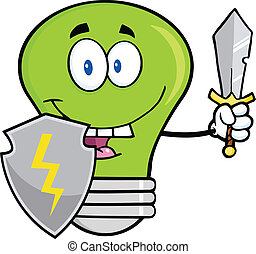 guarder, נורת חשמל, אור ירוק