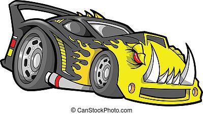 hot-rod, וקטור, race-car