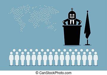 human., עולם, רובוט, נשיא, ממשלה, לשלוט, ארץ, מלאכותי, חכם