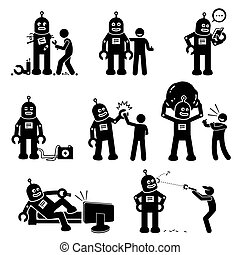 human., רובוט