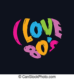 """""""i, לב, אהוב, vintag, מילים, 80's"""""""