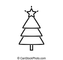 icon., עץ של חג ההמולד, תאר, ככב