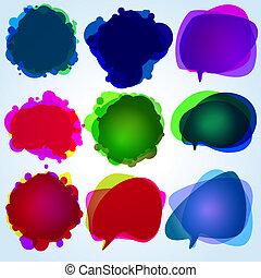 illustration., הכנסה לכל מניה, bubbles., נאום, 8, מקורי