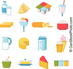 illustration., מוצרים, וקטור, חלוב