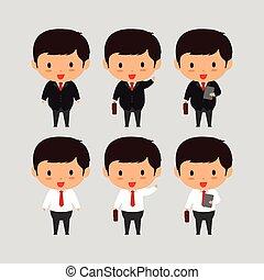 illustration., עסק, צעיר, אלגנטי, וקטור, איש
