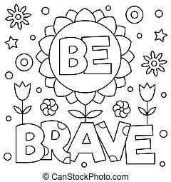illustration., be, וקטור, page., brave., לצבוע