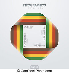 infinite., וקטור, עצב, סרט, infographics, template., ענוב
