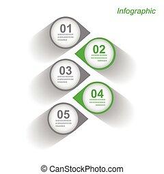 infographic, עצב, דפוסית