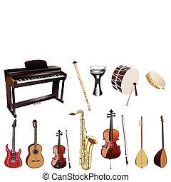 instuments, מוסיקה