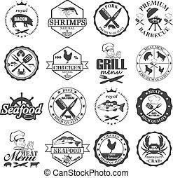 labels., קנה, מאכלי ים, קבע, מדבקות, שחוט