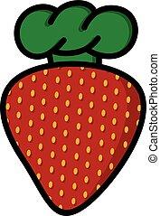 logotype, טבח, תות שדה, תימה, לוגו, כובע, ציור היתולי